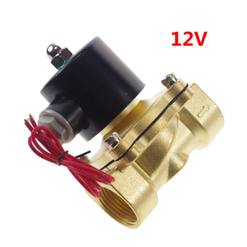 Water Air Oil Brass NC Electric Solenoid Valve 1 inch BSPP 12VDC