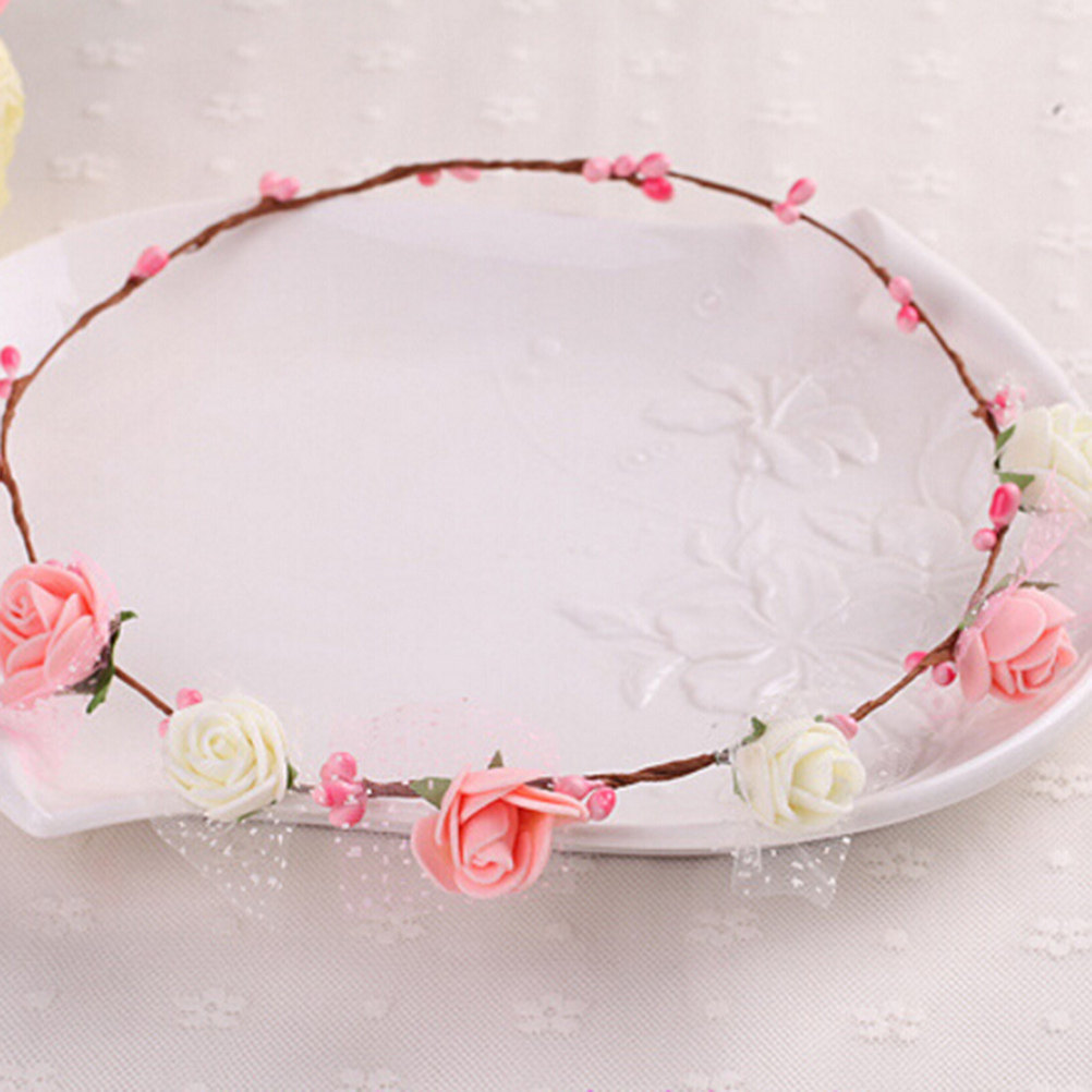 Women Lady Girl Bridal Headdress Hairband Summer Bohemia Handmade