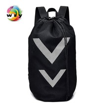 large capacity lightweight waterproof nylon backpack Fashion travel backpack Contracted joker black Bucket bag Brand leisure bag