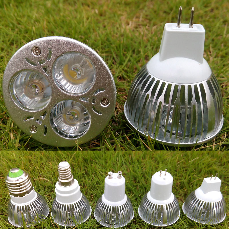 3W GU10 E27 MR16 E14 GU5.3 Base LED Bulb Spotlight 3x1W Spot Light Bulbs Lamp 110V 220V 230V 12V Spotlights Warm Cold White CE