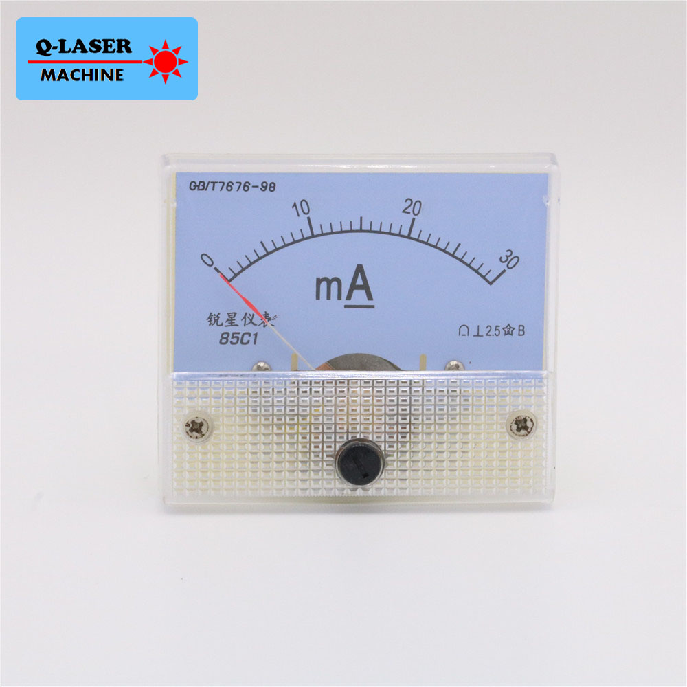DC 0-50mA Analog Ammeter Current Panel Ampere Meter Tester HUA 85C1 for CO2 Laser Engraving Cutting Machine
