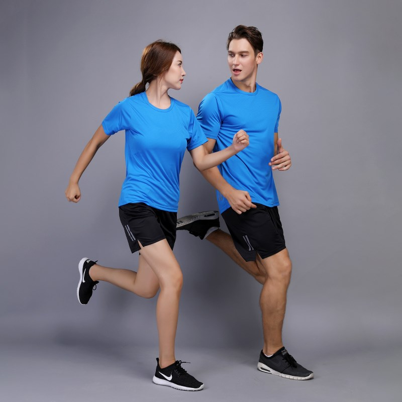 Sports & Entertainment Summer Mens Running Sets Quick Dry Jogging Sportswear Suits Short Sleeve Shirt And Shorts Fitness Gym Soccer Sport Suit