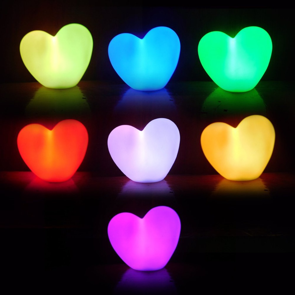 Kawaii Fox/Cute Heart Children Bedroom LED Night Light Kids Nursery Bedroom Baby Feeding Desk Night Light Valentines Day Gift