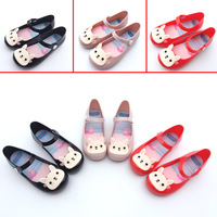 13 15 5cm Brazil Children Jelly Crystal Shoe Sandals For Girls Princess Shoes Cartoon Rabbit Design