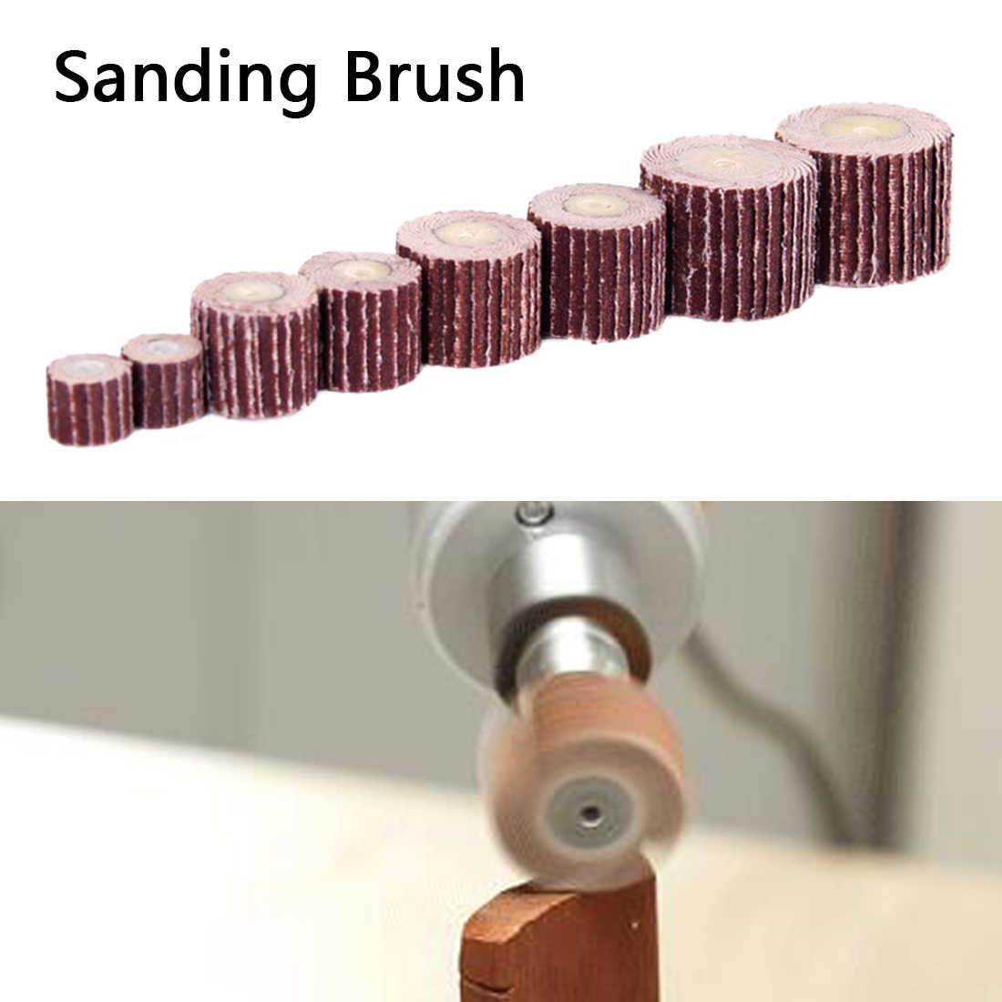 Pcs + 1 10 10-12mm Lixar Moagem Disco Aba Flap Rodas Escova Dremel Acessórios Para Abrasivo de Areia ferramentas moedor Dremel Rotativo