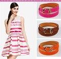 ¡ Caliente!!!!! las mujeres Decoración de La correa de La Vendimia Ocasional 2015 de la Moda de Aleación de Hebilla de Cinturón de Cuero Femenina Delgada Simples Correas de La Cintura Para Las Mujeres