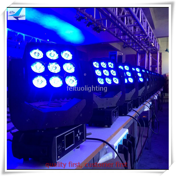 Popular FREE shipping stage Lumiere led matrix blinder light 9x12w rgbw 4in1 lyre beam led moving head wash light DMX mobile DJ in Stage Lighting Effect from Inspirational - Fresh lumiere lighting New Design