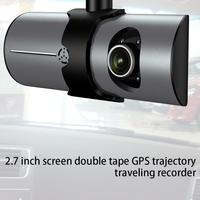 2.7 Inch Screen Dual Recording With Gps Track Driving Recorder R300 Dual Lens Vehicle Front Driving Recorder