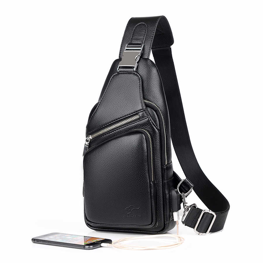 ab619513e3e7 Men's Messenger bag shoulder Oxford cloth Chest Bags Crossbody ...