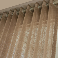 Sheer Mesh Fabric Florals Drapery Curtain Translucidus Voile For Bedroom Sitting Living Room 6 Color