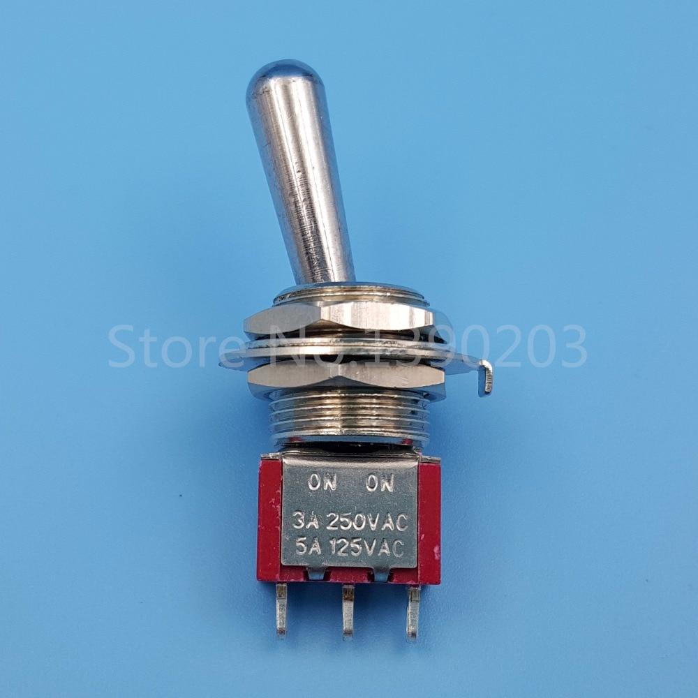Treu Sh T8013-z1 12mm On-on Spdt 3pin 2 Position Gehalten Mini-kippschalter Große Lange Griff Schalter