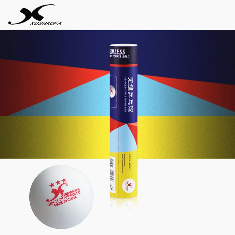 XuShaoFa Table Tennis Ball Gold 3-star G40+ XSF Seamless ITTF Approved New Material Plastic White Poly Ping Pong Balls