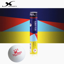 XuShaoFa Table Tennis Ball Gold 3-star G40+ XSF Seamless ITTF Approved New material plastic white poly ping pong balls цена
