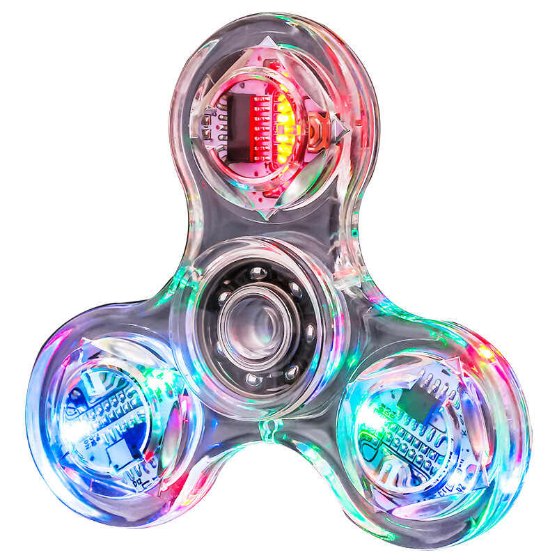 Allure Спиннер для рук Спиннеры-мячики светятся в темноте свет Figet Spiner Пальчиковый светильник Светодиодная Вспышка прозрачные декомпрессионные игрушки E