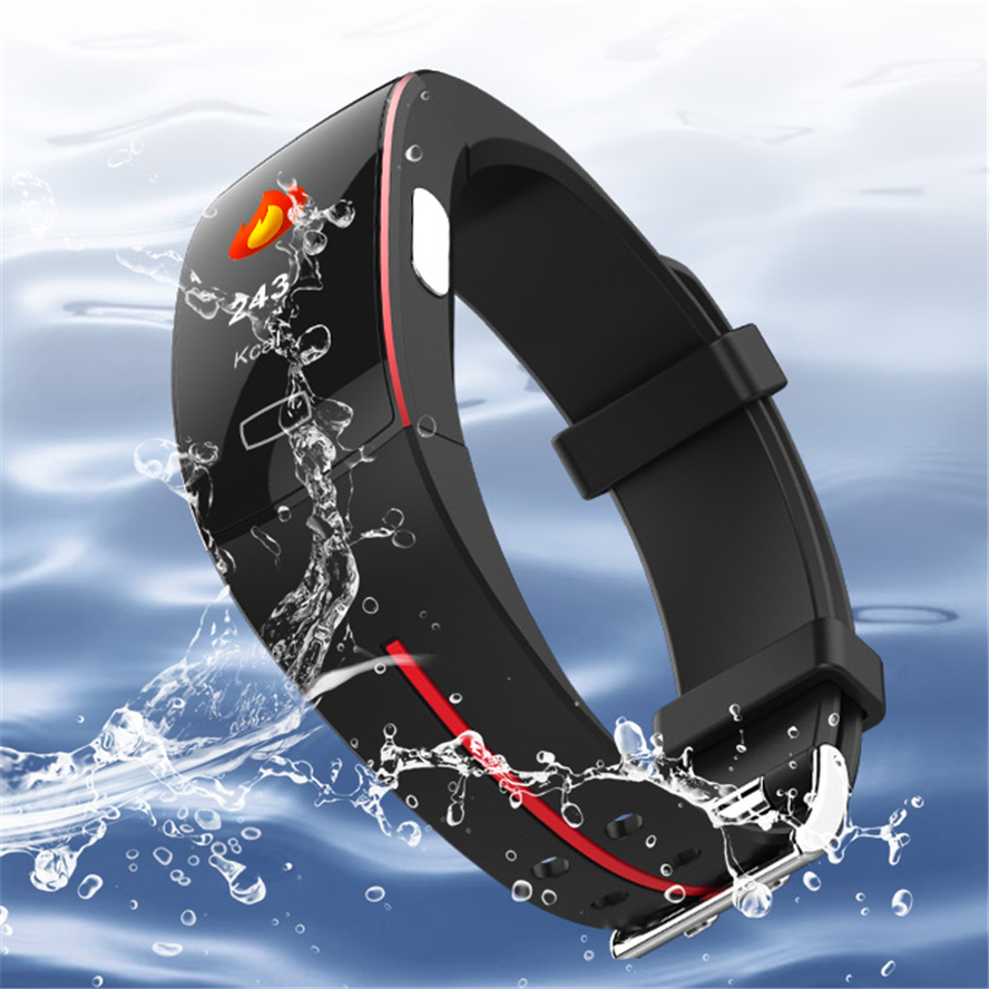 H66 Pl tension artérielle bande intelligente moniteur de fréquence cardiaque PPG ECG Bracelet Intelligent P3 plus Activit fitness Tracker Bracelet Intelligent - 3