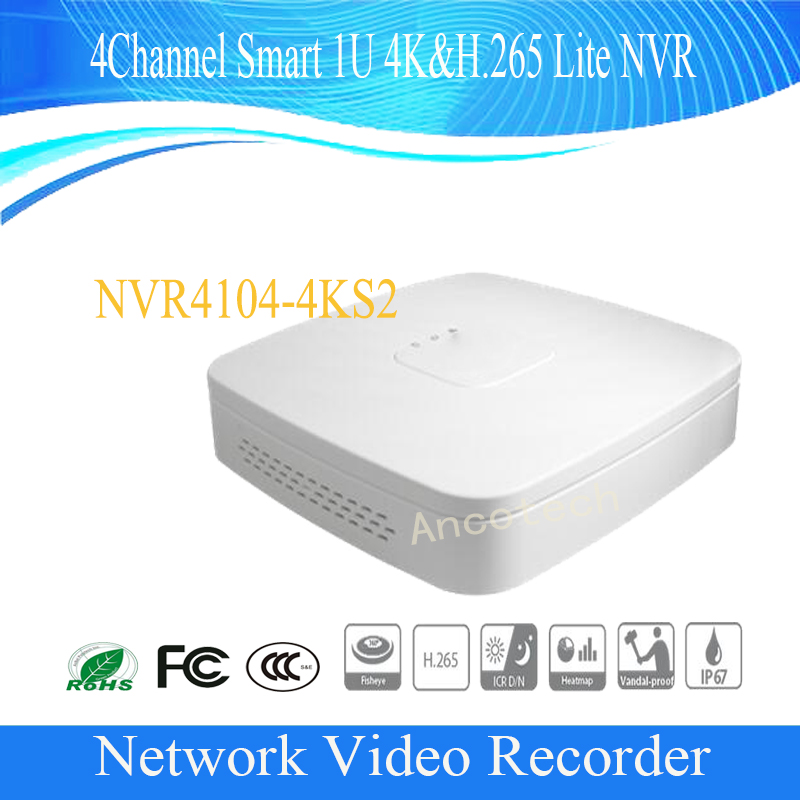 Free Shipping DAHUA 4/8/16 Channel Smart 1U 4K&H.265 Network Video Recorder without Logo NVR4104-4KS2/NVR4108-4KS2/NVR4116-4KS2 2014 new arrival dahua smart 1u nvr with p2p mini nvr nvr4104 nvr4108 nvr4116 free dhl shipping