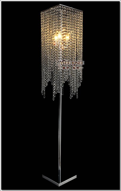 Free Shipping Modern Popular Crystal Floor Lamp, Chrome Floor Stand ...