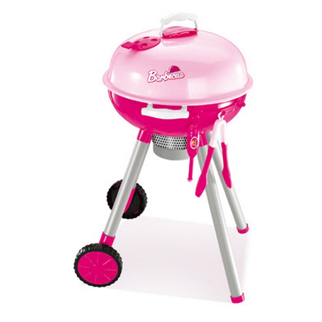 Nuovo Caldo Bambini Cucina Giocare Barbecue Passeggino Giocattolo Set Kid 'S Kitchen Pretend & Play Giocattoli Del Bambino Bambini A Casa Giocattolo Educativo -rosa