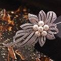 High-grade Crystal Clear Ponto Fornecer Bouquet Broches de Prata Broche Pinos de Roupa Jóias Moda Acessórios Femininos Brilhar