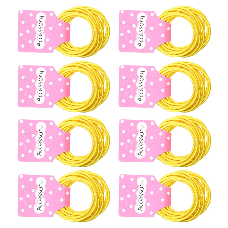 JEYL New 50pcs Baby Girl Kids Tiny Hair Accessary Hair Bands Elastic Ties Yellow