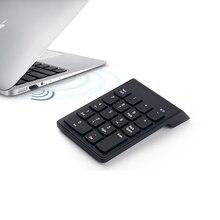 Portable Mini Mince 2.4 GHz Sans Fil Clavier Numérique 18 Touches Clavier Pour Macbook Ordinateur Portable De Bureau PC, AAA Batterie Pour la Puissance