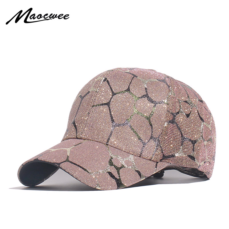 Fashion Woman Summer Sun Hats Spring And Summer   Baseball     Cap   Gold Thread Fashionable Joker   Cap   UV Female Leisure Hats Curved Hat