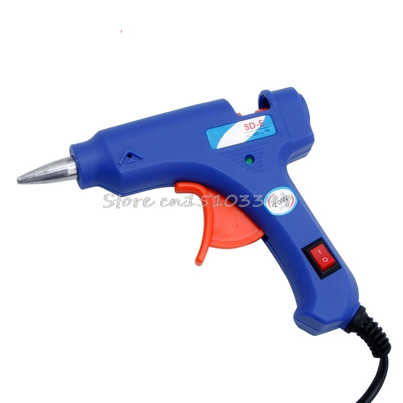 Professional Electric Heating Hot Melt Glue Gun 20W Art Craft Repair Tool US Plug Drop Ship