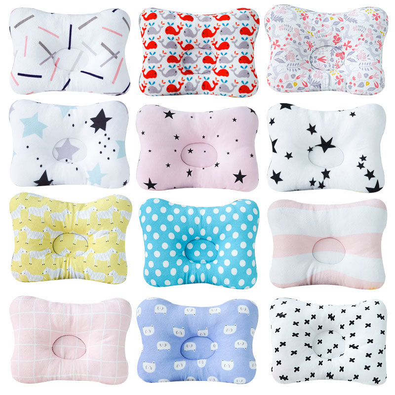 Muslinlife Bedding Neck Support Kids Pillow Head Infant Shaping Baby Pillow Print Cotton Baby Pillow Sleep Positioner Dropship
