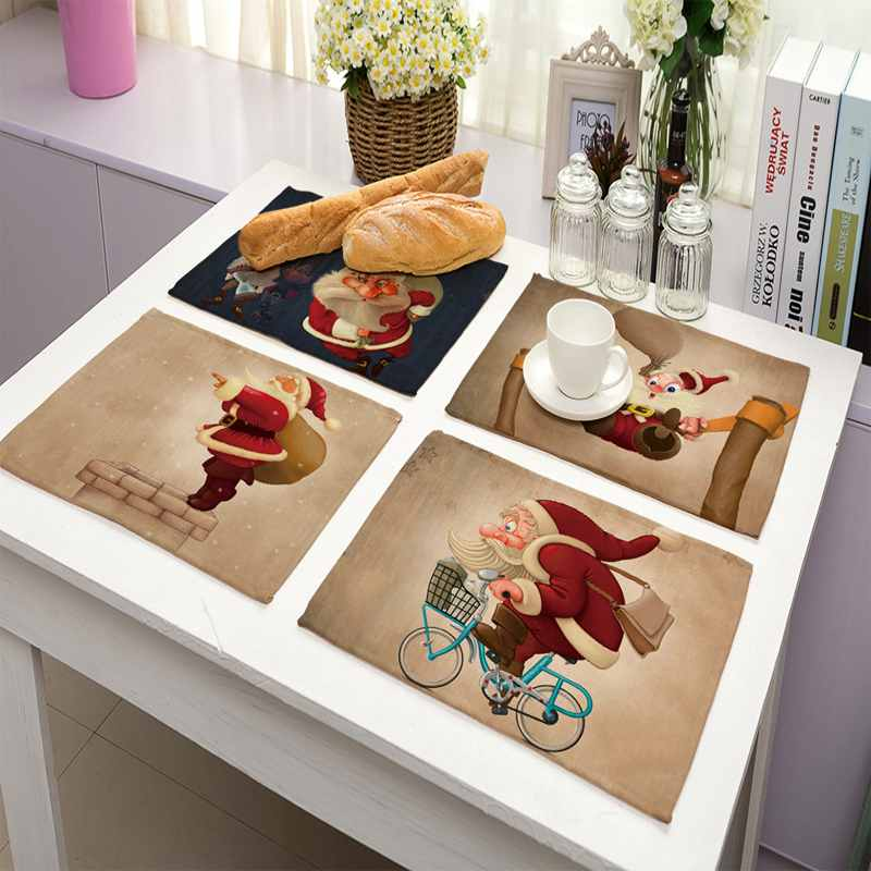 Urijk 1pc Creative Christmas Placemats For Kitchen Table ...