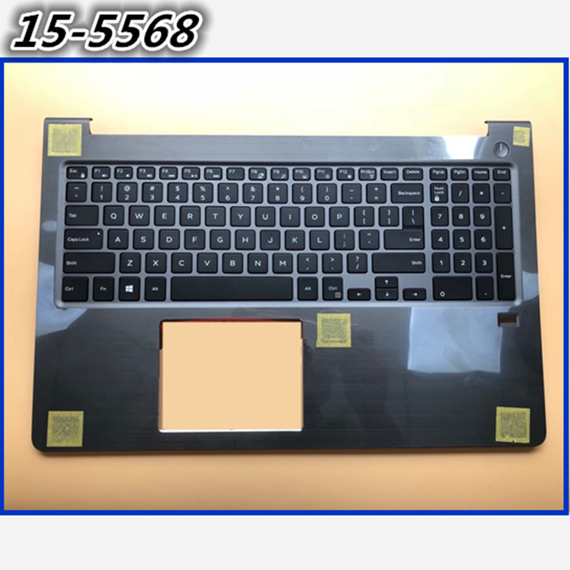 Used 90 NewPalmrest Cover With English Keyboard For DELL Vostro 15 5568 V5568 15 5568 upper