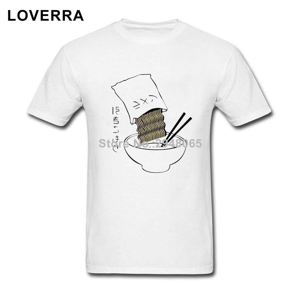 T shirt japanese design - Summer Harajuku Japanese Letter Noodles Male T Shirt O Neck Brand Clothing Tshirt Cotton Short Sleeve Design Tees Shirts Men