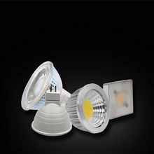 Plastic coated aluminum glass lamp cup MR16/MR11/COB lighting angle 38/90/120 3w 5w 6w Spotlight downlight cup(China)