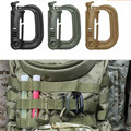 Molle Tactical Backpack Carabiner Outdoor Plastic EDC Shackle Carabiner Practical ABS Snap D-Ring Clip Keyring Locking Ring 1PC