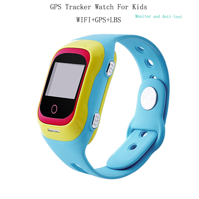 Child GPS Tracker Watch Anti-lost SOS Monitor Wristwatch for Kids Emergency Waterproof Smart Watch GSM Wristband For IOS Android