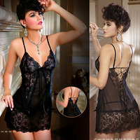 2014 Sale Women Lady Lingerie V Neck Mini Dress Underwear Babydoll Sleepwear G String Set Sexy