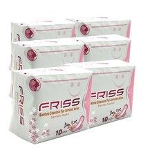 6 pacotes almofada menstrual anion almofadas sanitárias de higiene feminina produto algodão guardanapo sanitário saúde shuya anion amor calcinha forro