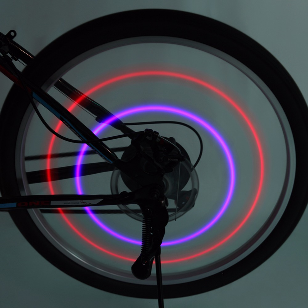 Newest 2018 Bike Bicycle Wheel Spokes Lights Lamps 1 PCS Cycling Riding Spokes Light With Super Bright Red Blue Led