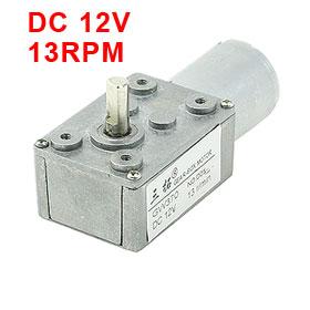 Uxcell(R) Hot Sale 1Pcs 6mm Shaft Gear Box 2 Terminals Electric Geared Motor DC 12V 13RPM цена