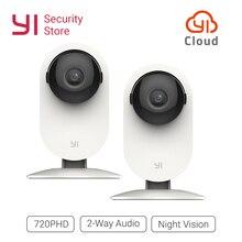 YI caméra maison 720 P 2 pc Vision nocturne WIFI caméra IP/réseau sans fil caméra de Surveillance de sécurité hibou Version internationale YI Cloud