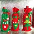 Decoración de navidad Suministros Cubierta de la Botella de Vino Rojo de Lana Bolsas de Material Decoración Del Partido En Casa de EIK Navidad Regalo