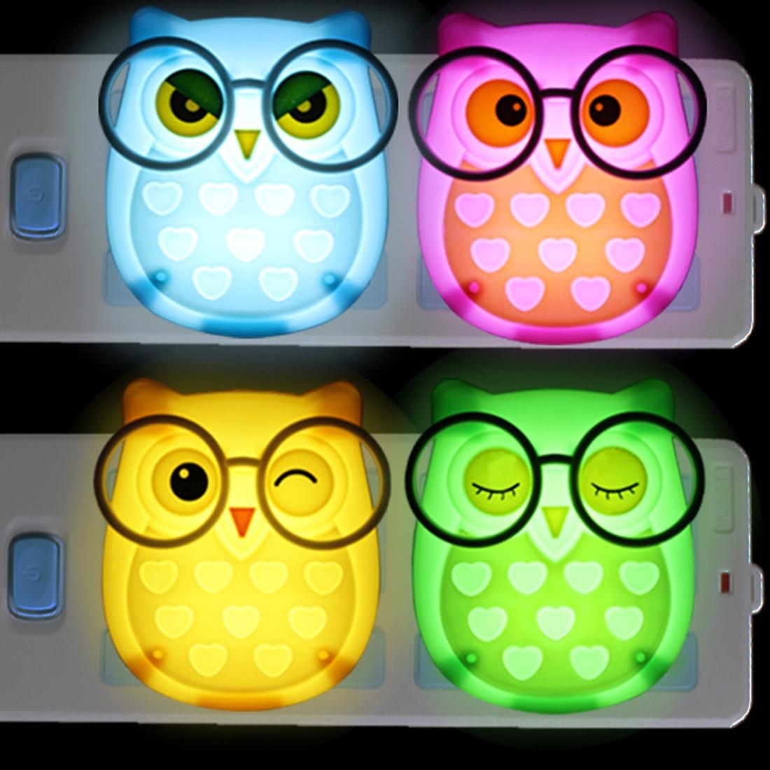 Useful Mini Owl Light Led Animal Nightlight Auto Control Sensor Lamp Child Kids Baby Soft Lights Bedroom Lighting Wall Light
