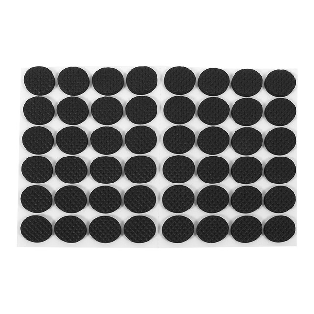 48pcs Non Slip Self Adhesive Furniture Rubber Feet Pads Table Chair Floor Protectors Mat Round