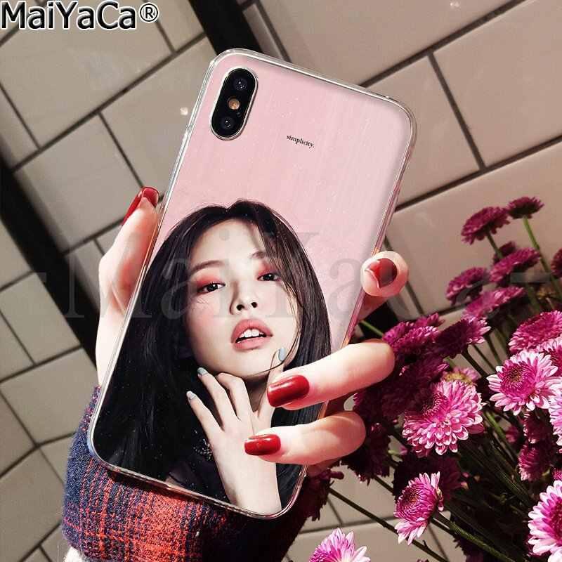 MaiYaCa BlackPink Jennie DIY 印刷描画電話ケース apple の iphone 5 8 7 6 6S プラス X XS 最大 5 5S 、 SE XR カバー