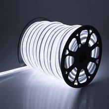 AC220V LED Neon Strip Light Flexible WiFi RGB Neon Rope with EU Plug Waterproof Ribbon Tape White Warm White for Decoration