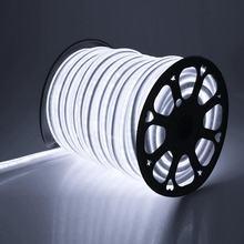 Tira de neón LED Flexible para decoración, cinta de neón con enchufe europeo, AC220V, WiFi, RGB, resistente al agua, color blanco cálido