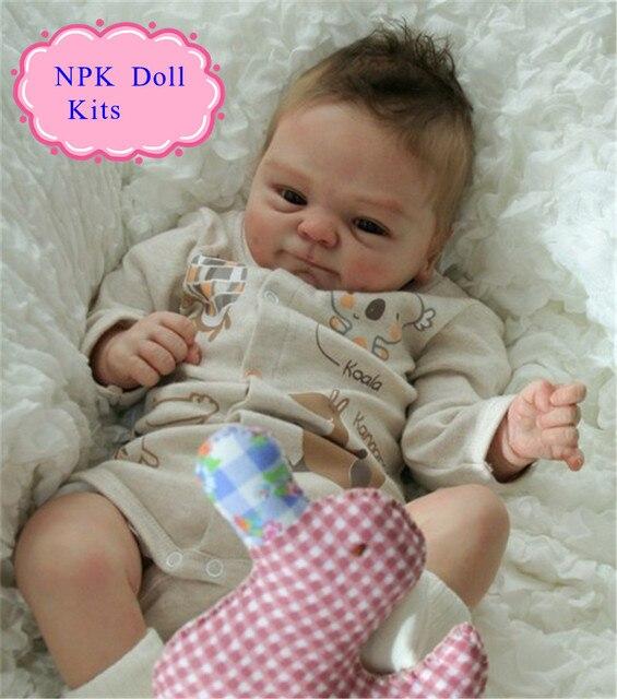 ขายส่งสัมผัสจริงซิลิโคนไวนิลเกิดใหม่ตุ๊กตาชุดสำหรับ17 ''สำเร็จรูปตุ๊กตาร้อนอุปกรณ์ตุ๊กตาที่จะDIYยังมีชีวิตอยู่Rebornเด็กตุ๊กตา