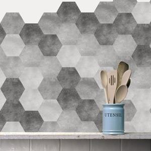 Northern europe 3D modern art home decoration Tile sticker black and white floor sticker self-sticking PVC wall sticker  10/pcs