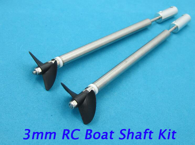 Free Shipping 3mm RC Boat Shaft Kit Drive Shaft+Propeller+Coupling+Shaft Sleeve 100/150/200/250/300mm Spare Parts free shipping 4mm rc boat shaft set stainless steel shaft universal coupling shaft sleeve tube 3 blades propeller spare parts