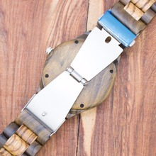 2018 TJW Brand Mens Wooden Watches Quartz Watch Vintage Wristwatch Nature Wood Zabra Clock for Men Watch