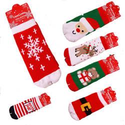 Зимние Теплые детские носки Рождество чулки чистого хлопковые носки для малышей 0-3 От 3 до 5 лет одежда для малышей Носки махровые Носки wz018